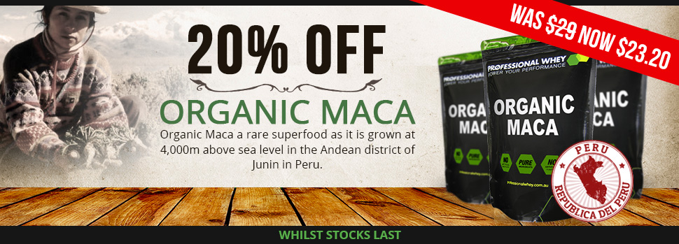 DEAL: Organic Maca 20% Off
